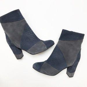 Seychelles Skulk Navy Charcoal Ankle Boots Heels